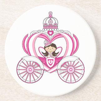 Princesa en práctico de costa real del carro posavasos personalizados