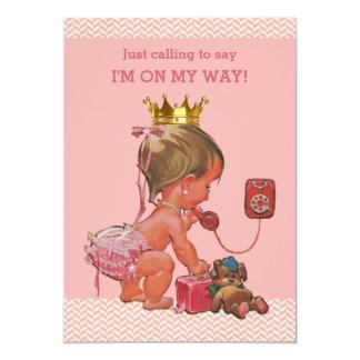 """Princesa en rosa de los galones de la fiesta de invitación 5"""" x 7"""""""