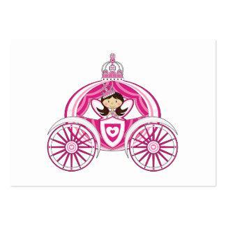 Princesa en señal real del carro plantilla de tarjeta de negocio