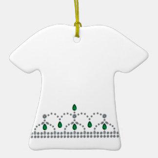 Princesa esmeralda Tiara Ornamento Para Arbol De Navidad