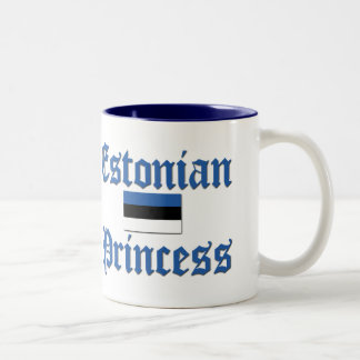 Princesa estonia taza de dos tonos