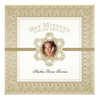 Princesa estrella de Mitzvah del palo del oro de D Invitación