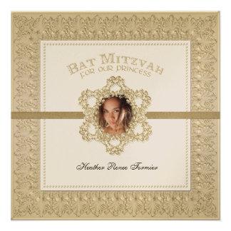 Princesa estrella de Mitzvah del palo del oro de D Comunicado Personalizado