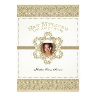 Princesa estrella de Mitzvah del palo del oro de D Invitacion Personal