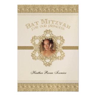 Princesa estrella de Mitzvah del palo del oro de D Comunicado