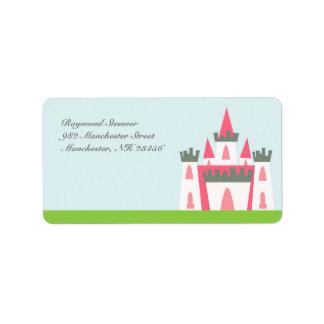 Princesa etiquetas de correo etiqueta de dirección