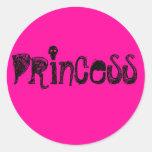 Princesa Etiquetas Redondas