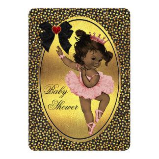 """Princesa étnica Ballerina Faux Bow Foil y brillo Invitación 5"""" X 7"""""""