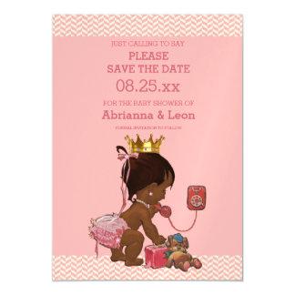 Princesa étnica en reserva del teléfono los invitaciones magnéticas