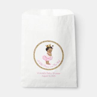 Princesa étnica fiesta de bienvenida al bebé de la bolsa de papel