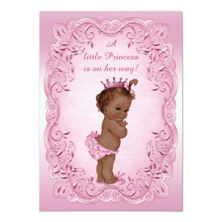Princesa étnica fiesta de bienvenida al bebé del invitación 12,7 x 17,8 cm