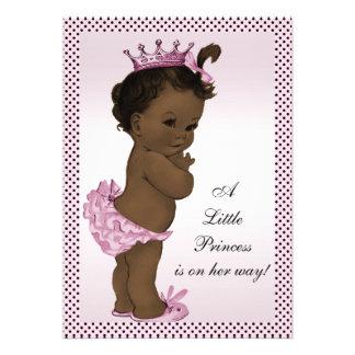 Princesa étnica fiesta de bienvenida al bebé del v invitaciones personales