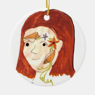 Princesa Facepainting Ornament del Seashell Ornatos