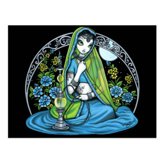 Princesa Fae Postcard de la cachimba de la flor de Postal