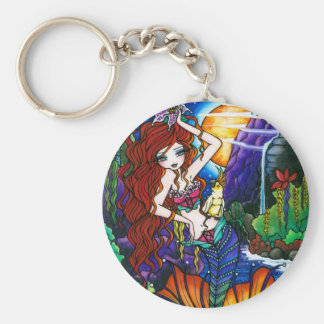 Princesa Fairy Mermaid Cockatoo Fantasy de Maui Llavero Redondo Tipo Pin