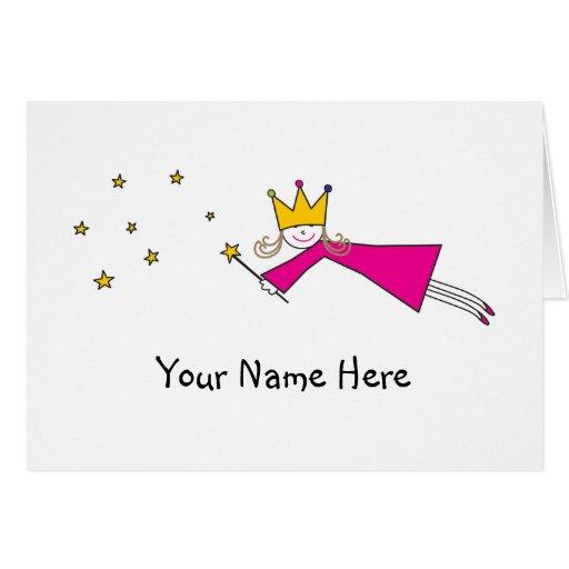 Princesa Fairy Notes Tarjeta De Felicitación