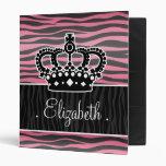 Princesa femenina rosada y estampado de zebra negr