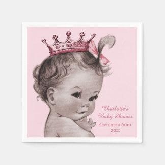 Princesa fiesta de bienvenida al bebé del vintage servilleta desechable