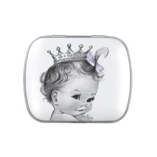 Princesa fiesta de bienvenida al bebé jarrones de caramelos