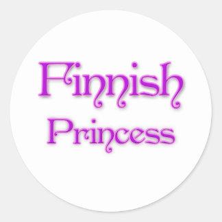 Princesa finlandesa etiquetas redondas
