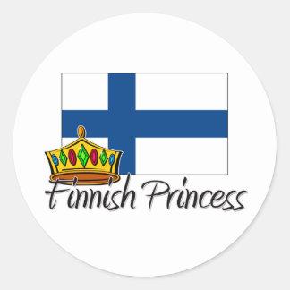 Princesa finlandesa pegatinas redondas