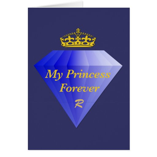 Princesa Forever Blue Diamond Card de las tarjetas