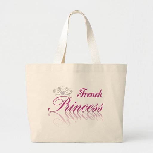 Princesa francesa bolsa tela grande
