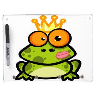 Princesa Frog con la corona de oro Pizarras