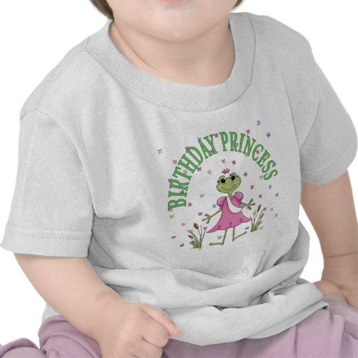Princesa Frog del cumpleaños Camisetas