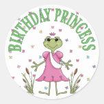 Princesa Frog del cumpleaños Etiquetas