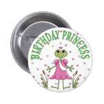 Princesa Frog del cumpleaños Pins