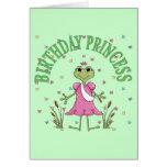 Princesa Frog del cumpleaños Tarjetas