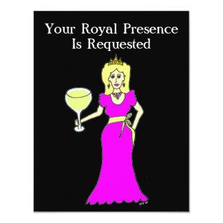 """Princesa Gathering del vino Invitación 4.25"""" X 5.5"""""""