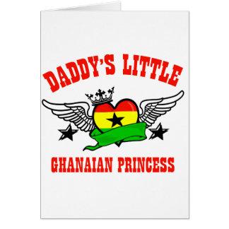 Princesa ghanesa tarjeta de felicitación