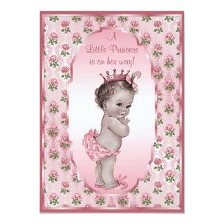 Princesa Girl y fiesta de bienvenida al bebé Invitación 12,7 X 17,8 Cm