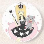 Princesa gótica de los corazones posavasos manualidades
