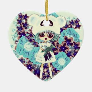 ¿Princesa gótica PinkyP del hielo del niño de Adorno De Cerámica En Forma De Corazón