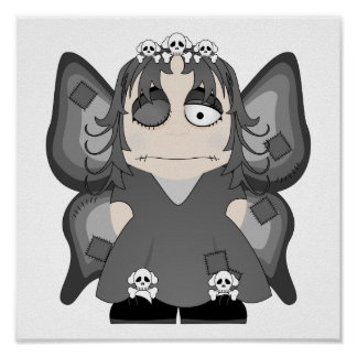 Princesa gótica remendada Fairy Posters