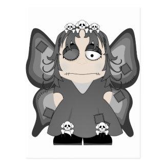 Princesa gótica remendada Fairy Postales