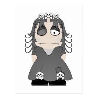 Princesa gótica remendada tarjeta postal