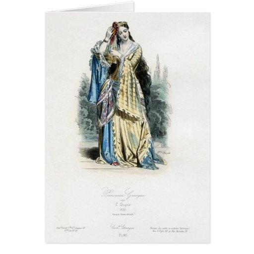 Princesa griega Traditional Costume Tarjeta De Felicitación