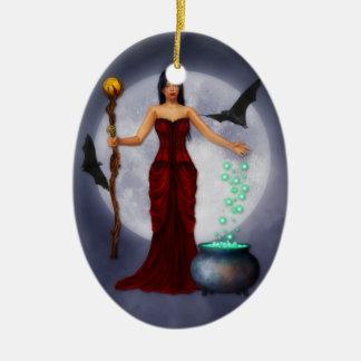 Princesa Halloween Ornament de Wiccan Adorno Navideño Ovalado De Cerámica