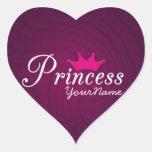 Princesa Heart Stickers Colcomanias De Corazon