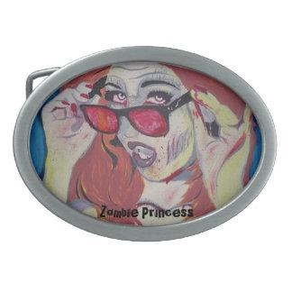 """""""Princesa"""" hebilla del cinturón del zombi Hebillas De Cinturon Ovales"""