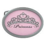 Princesa hebilla del cinturón (fondo rosado) hebillas cinturon ovales