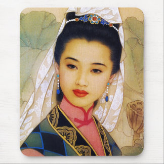Princesa hermosa joven china fresca Guo Jing Alfombrillas De Ratones