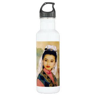 Princesa hermosa joven china fresca Guo Jing Botella De Agua