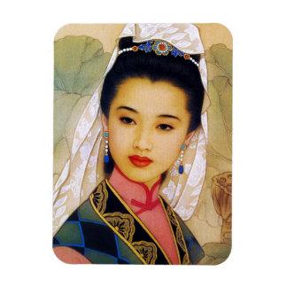 Princesa hermosa joven china fresca Guo Jing Imanes Rectangulares