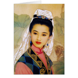 Princesa hermosa joven china fresca Guo Jing Tarjeta Pequeña