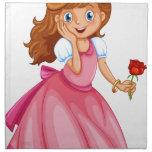 Princesa hermosa servilleta de papel